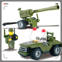 With Gift+Building Blocks Field Armies 93Bricks DIY  Toy Interlocking Construction  For Kids Compatible Legoe+