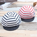 Cotton Striped Baby Boys Hats Sailor Adjustable Soft Brim Toddler Girls Cap for 6-27 Months 1 PC