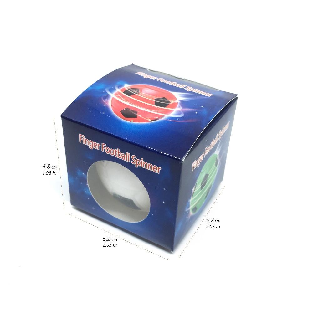 Купить с кэшбэком 10PCS/Creative Mini Football Basketball Fidget Spinner Toy Hand Tip Gyro Anti-stress Fun Toys Gifts For Adults Chilldren