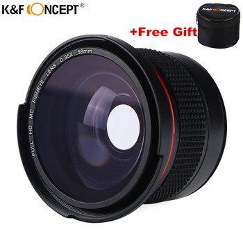 58 MM FHD 0.35x Balıkgözü Makro Geniş Açı Kamera Lens Çok Kaplamalı Mavi Kat Lensler Nikon d3300 Canon 6d 600d Fujifilm DSLR