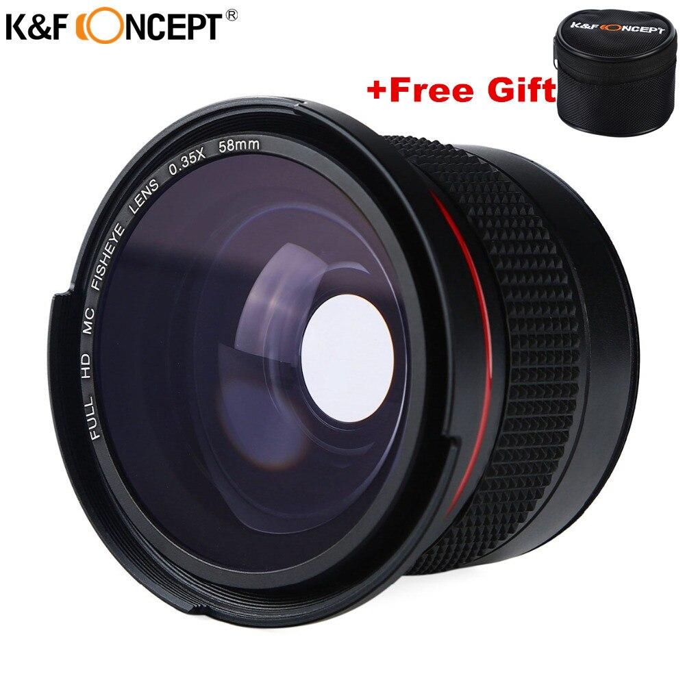 58 MM FHD 0.35x Fisheye Macro grand Angle objectif caméra multi-couches bleues lentilles pour Nikon d3300 Canon 6d 600d Fujifilm DSLR