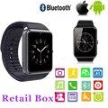 2017 gt08 smart watch con cámara smartwatch reloj bluetooth tarjeta sim para ios android teléfonos soporte multi idiomas dz09