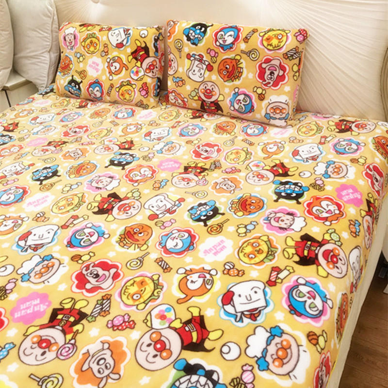 Cartoon Anpanman Plush Toys Soft Pillowcase Air Condition Blanket Creative Birthday Christmas Gift #1048 Great Varieties