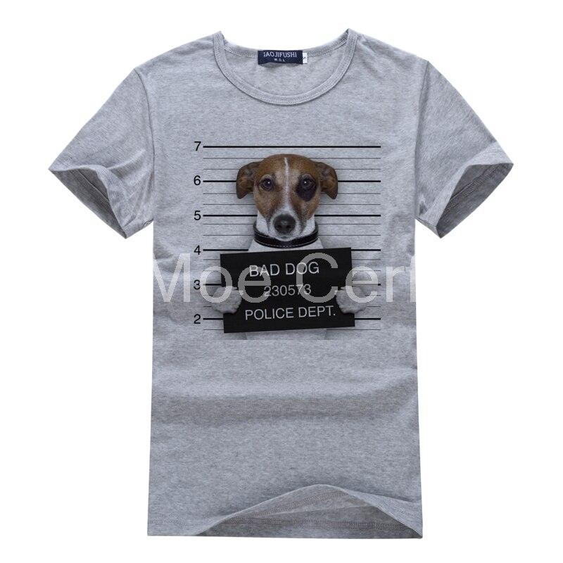 2018 Sommer Männer T Shirts Neueste Mode Schlechter Hund Design T-shirt Polizei Französisch Bulldog Hipster Tees Mann Kühles Grau T-shirt L3-55