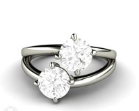14K White Gold Plated Sterling Silver 925 0.5ct D Moissanite Rings Solitaire Engagement Wedding Trendy Fine Jewelry Ring