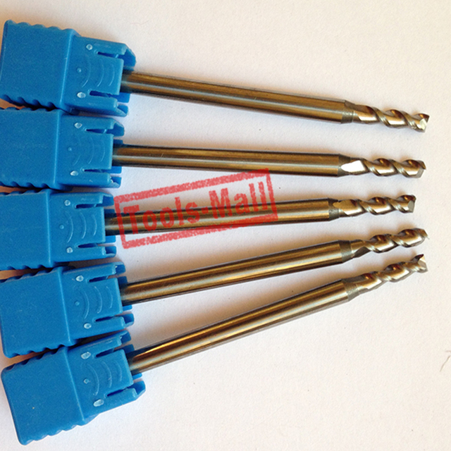 1pc 4.5mm D4.5*13*D6*50 HRC50 2 Flutes Milling cutters for Aluminum  CNC Tools Solid Carbide CNC flat End mills Router bits