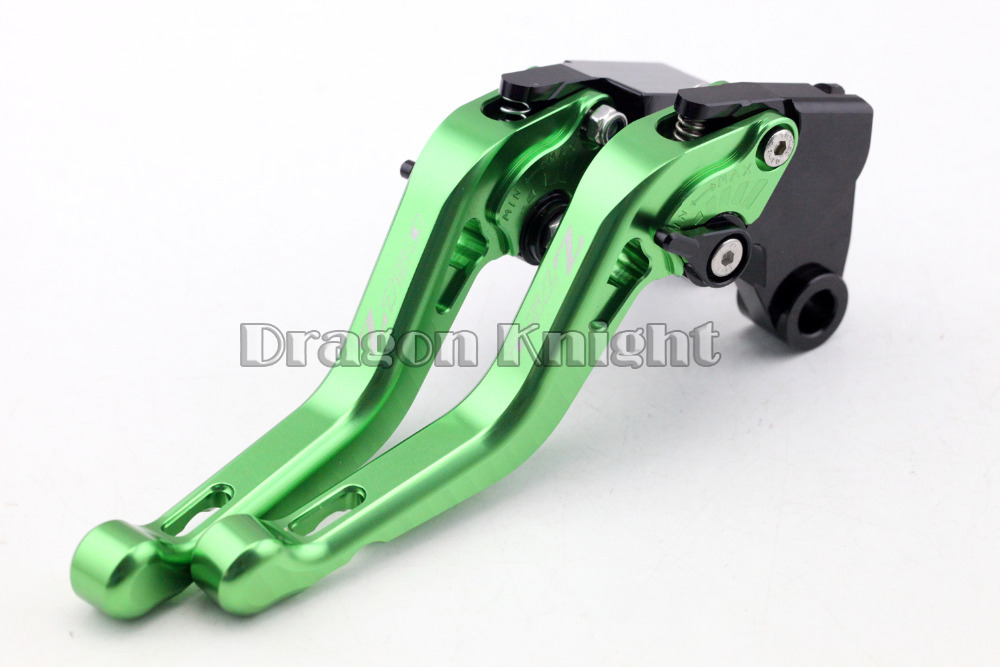 Motocycle Accessories For KAWASAKI Z 750R 11-13 Short Brake Clutch Levers Green