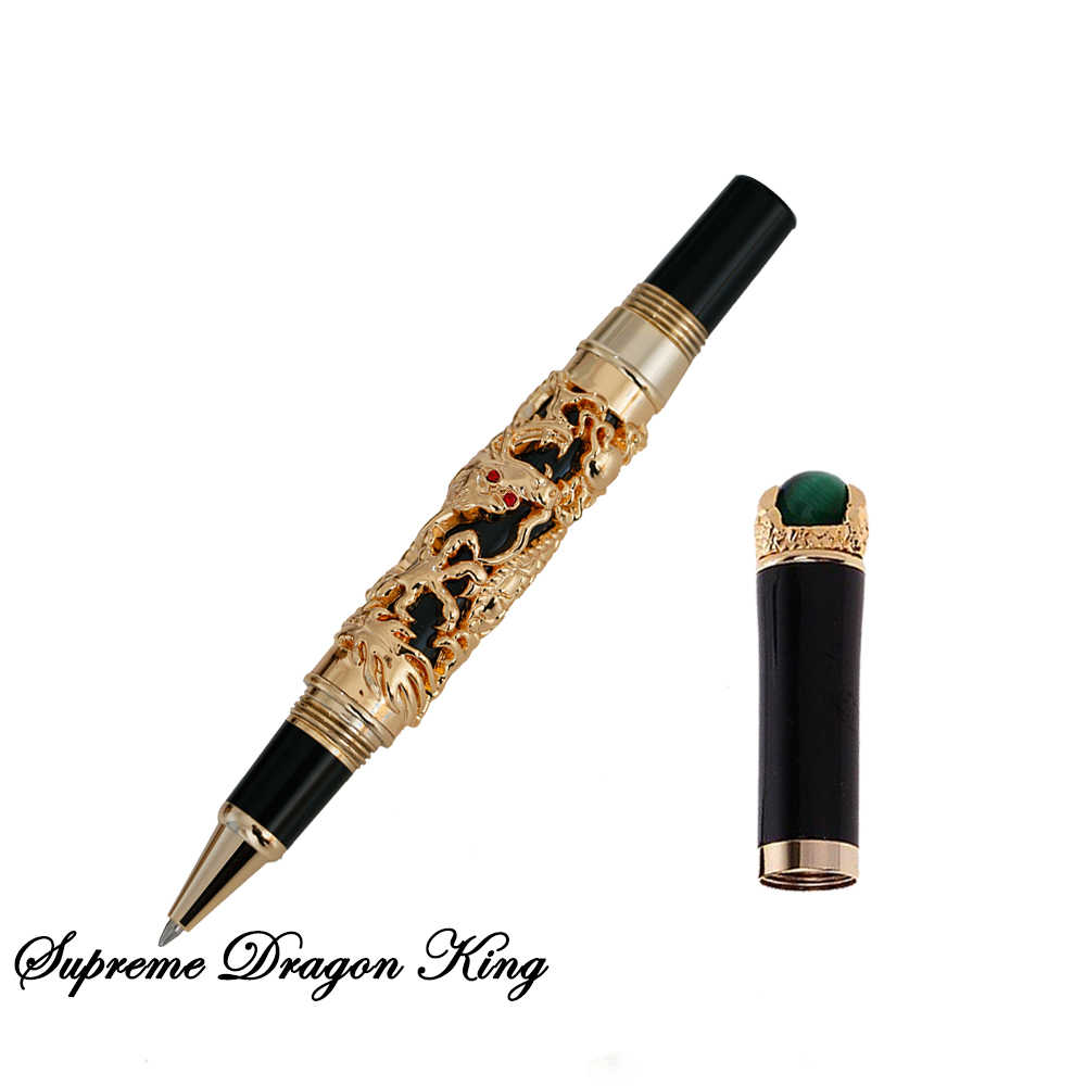 High Quality Luxury Dragon Ballpoint Pen Vintage 0.7MM Nib JINHAO Ball Pen Novelty Gift Office Supplies Stationery Caneta