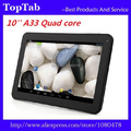 Envío Libre de DHL 10 unids/lote 10 pulgadas tablet pc Allwinner A33 quad Core 1 GB 8 GB Táctil Capacitiva Screen1024 * 600