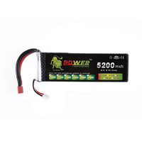 A+ Lion 7.4V 2S 5200mah 30C Lipo Battery Power For Tamiya RC Car Truck Model 0.11