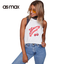 asmax 2017 Summer Casual Women T-shirt White Brief O Neck Sleeveless Tops Tee Female Pullover Print Patchwork Loose Slim T-shirt