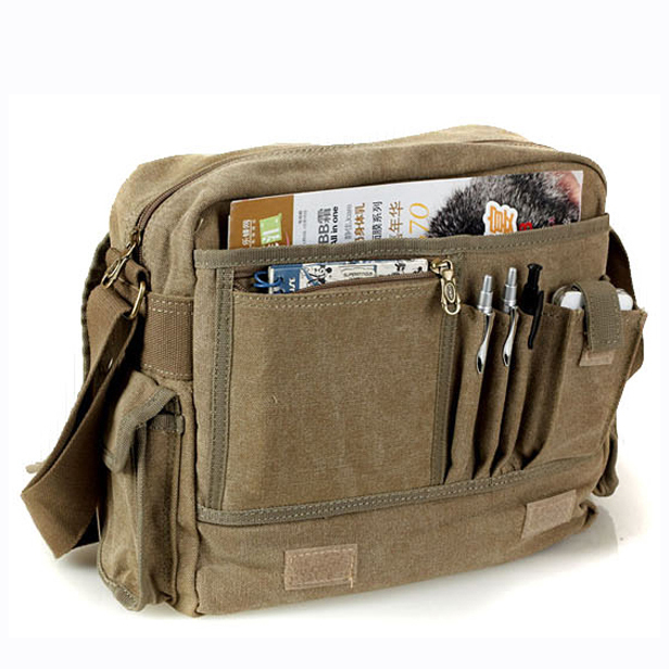 ac9d8a9df7a Tactical canvas student school book bag for boys Aerlis 2013 New men  shoulder messenger cross body bags Free shipping
