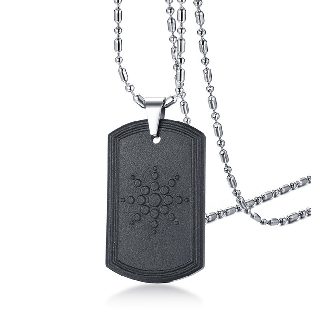 Quantum Scalar Energy Bio Science Pendant Necklace for Men Dog Tag Japanese Technology Volcanic Lava Radiation Protection Jewels