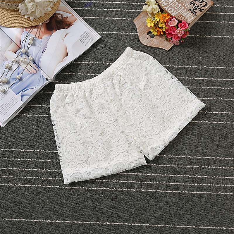 Anti-exposure 2 Layer Smooth Fabric Lace Boyshort Summer Autumn Boxer Panties Clouds Style Hollow Underpants Cool Sexy Underwear