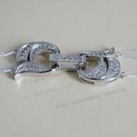 LIVRAISON GRATUITE>>> 925 argent qualité double rangée perle collier fermoir diamant zircon 2 bracelet collier fermoir