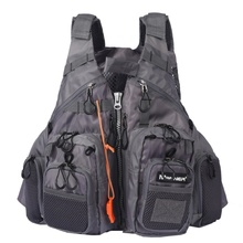 Adjustable Fishing Vest Mutil-Pocket Mesh Fly Fishing Vest Outdoor Sport Life Safety Jacket Swimming Sail New Vest