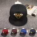 2016 Europe and the Superman diamond flat brimmed hat hip hop cap street hats skateboard NEW cap Diamond snapback hat