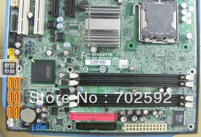 Original server motherboard GA-5YASV-RH support lga775 cpu