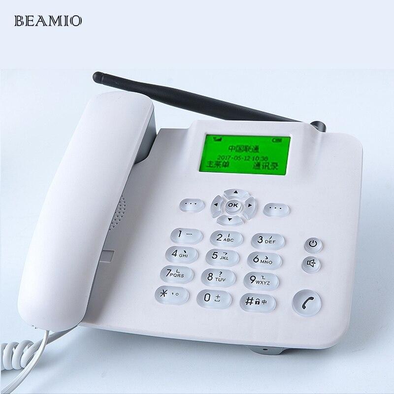 Téléphone sans fil fixe GSM 850/900/1800/1900 MHz avec prise en charge FM téléphone sans fil à cadran rapide téléphone sans fil pour la maison
