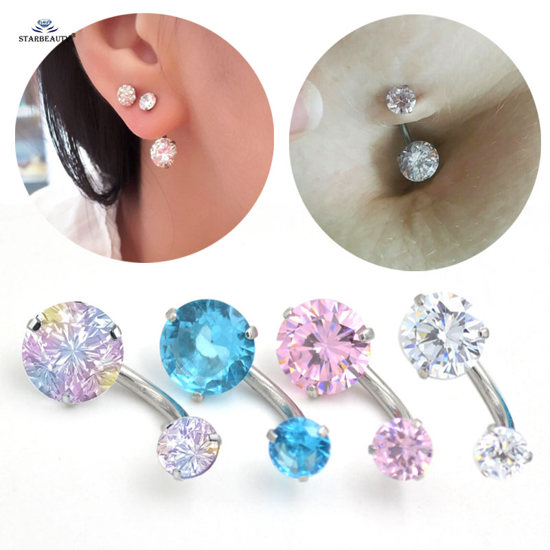 Kind-Hearted Piercing Nombril Crystal En Acier Chirurgical 316l Easy To Lubricate Body Piercing Jewelry Body Jewelry