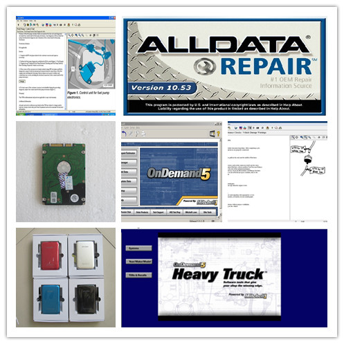 alldata v10.53 and mitchell on demand 5+ mitchell heavy truck auto repair software diagnostic Manual 3in1 hdd 750gb