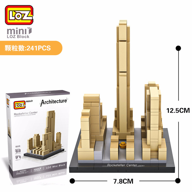 LOZ Blocos Blocs De Construction Architecture Modele Rockefeller Center  Jouets Pour Enfants Forge World Ville Maison