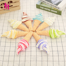 1pc New 26cm Creative Plush Summer Style 3D Delicious Icecream Cushion Stuffed Soft Ice cream Plush