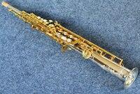YANAGISAWA S 9030 Soprano B Flat Saxophone Brass Silvering Body Integral Sax Straight And Curved Tube
