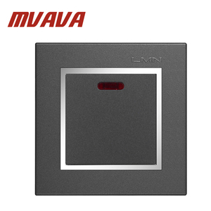 MVAVA 1 Gang Air Conditioner Push Button Electrical Wall Switch With Neon Indicator Light 20A 110-250V Electric Switch Free Ship