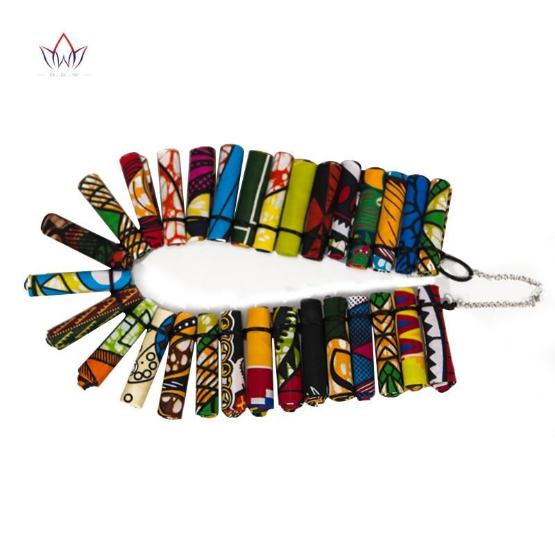 de instrução áfrica impresso cera tecido acessórios colares wya30