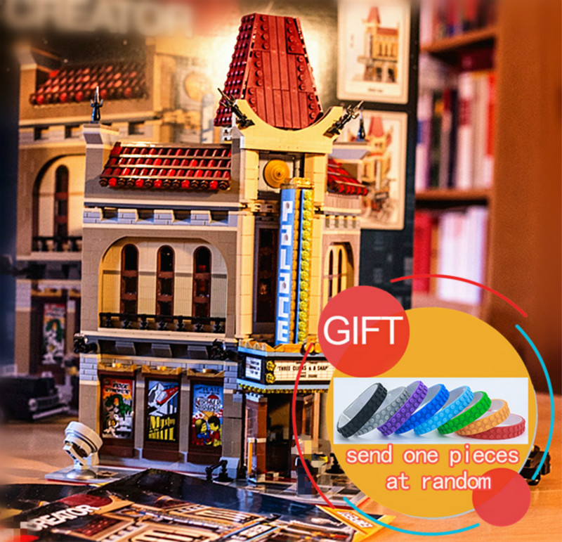 15006 2354pcs City Series Palace Cinema Model Set Building Compatible with 10232 Blocks For Children toys lepin ynynoo lepin 02043 stucke city series airport terminal modell bausteine set ziegel spielzeug fur kinder geschenk junge spielzeug