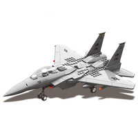 F15 Eagle Fighter Assembly Blocks Scale Model Military Aircraft Series Fighter Helicopter Models Building Toy For