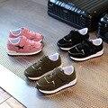Детская Спортивная Shoes Кожа Мальчики Девочки Кожа Shoes Оптовая Детская Мода Кроссовки Удобные Дети Квартиры Shoes