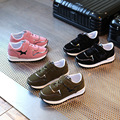 Children's Sport Shoes Leather Boys Girls Leather Shoes Wholesale Baby Fashion Sneakers Comfortable Kids Flats Shoes