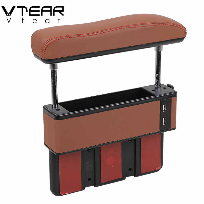 Universal car adjustable Increase armrest box Central lift elbow support with USB Charging hole interior car-styling Accessorie