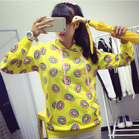 Spring Autumn Fashion Donuts Printing Hoodies For Men Women Kpop Got7 Mark Just Right Bts Jung