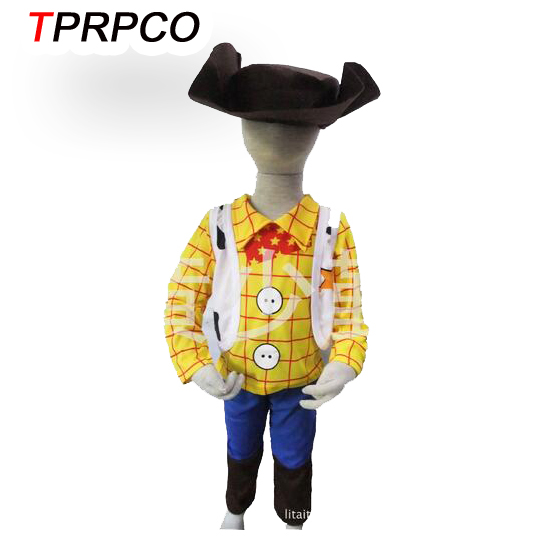 TPRPCO 3-7years Boy Toy Story Role-playing Sherif Woody cosplay Halloween costumes kid Sherif Woody model clothing NL105