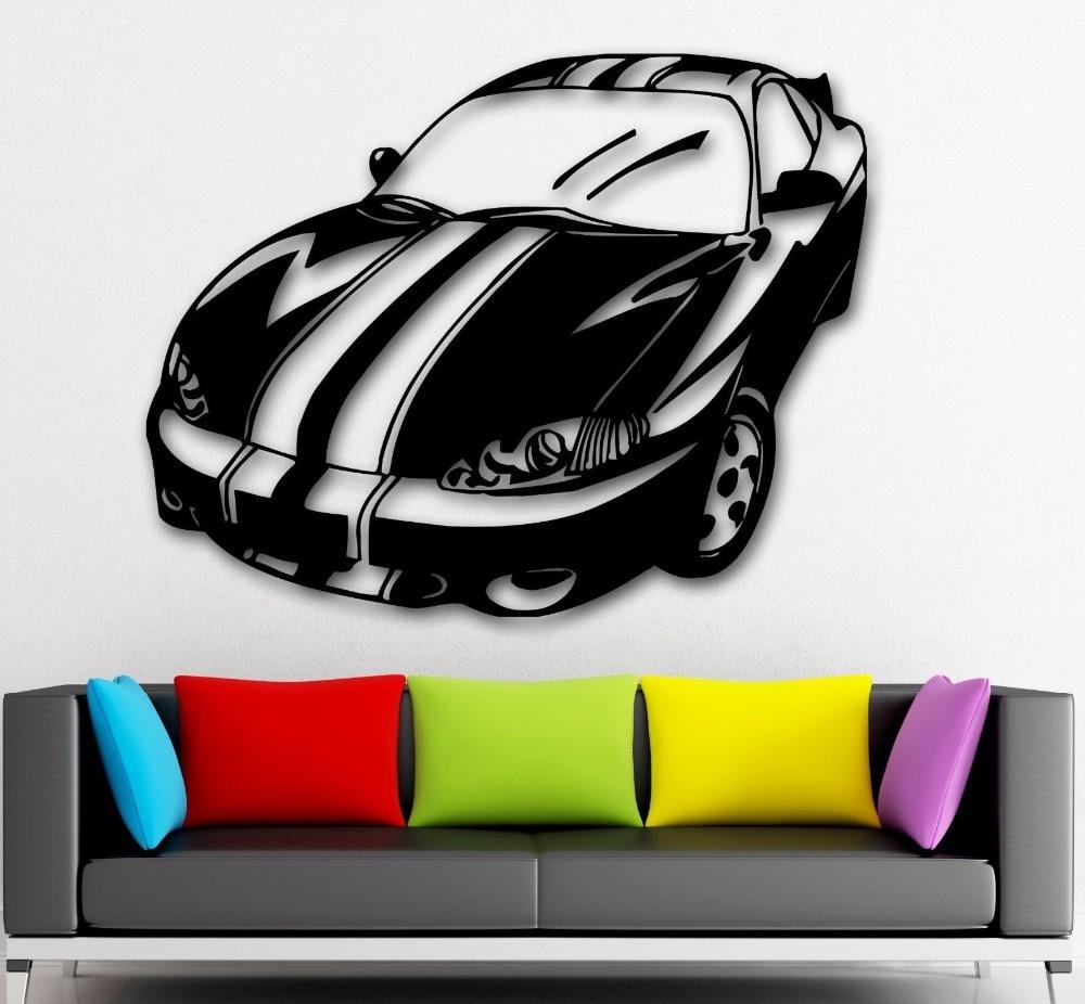Car design sticker rally - Wall Stickers Vinyl Decal Rally Sport Race Car Great Garage Decor China Mainland