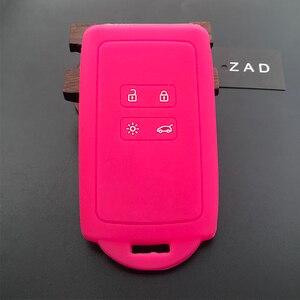 Image 3 - Чехол для автомобильного ключа ZAD, силиконовый резиновый чехол для Renault KOLEOS Kadjar Arkana 2017, для samsung QM5, набор из 4 кнопочных карт, чехол для смарт ключей