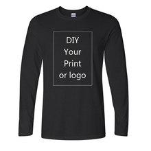 Varış AB Boyutu Pamuk Uzun Kollu O Boyun T Gömlek Moda 3D baskılı tişört Özel Senin Özel Tshirt beyaz Diy Tops Tee
