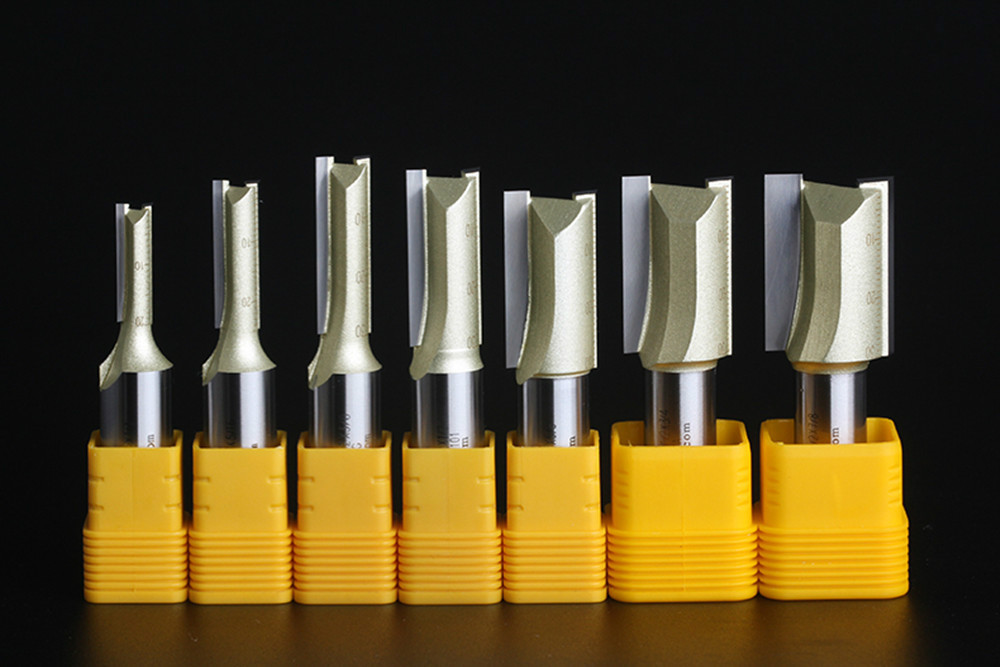 Lengthen 1/4*1/4*1-1/4  straight bit 2 blade milliutter Arden Router Bit Woodworking Tool 1/4 shank for trimmer CNC tools 1h181 1