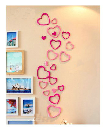 free shipping 2013 new diy 3d removable wall stickers bedroom romantic wedding decoration love graffiti art