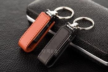 Full Capacity Leather Usb Flash Drive 4GB 8GB 16GB 32GB 64GB 128GB  Memory Stick Pen Exempt postage