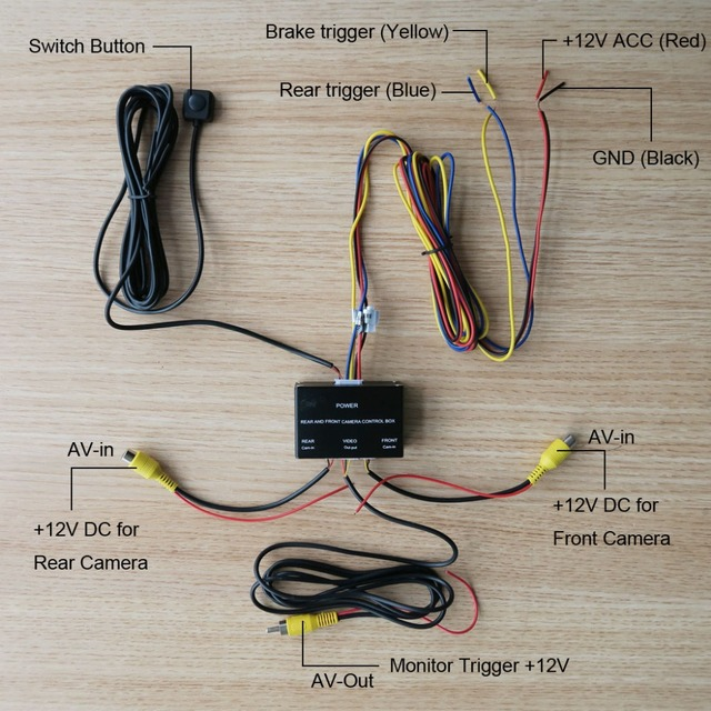 Car Front And Rear Camera Control Box System Two Cameras Image Switch Control Box Intelligent