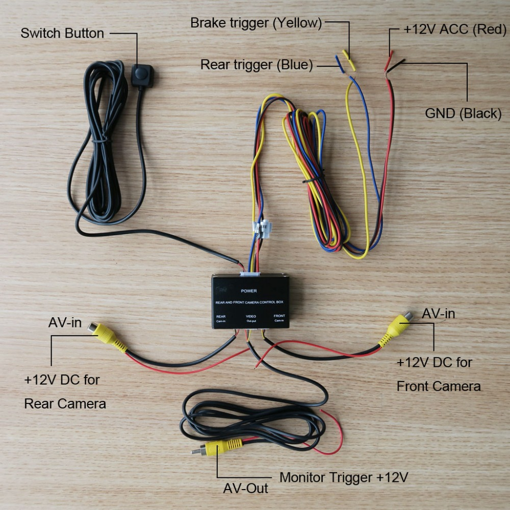 Car Front And Rear font b Camera b font Control Box System Two Cameras Image Switch