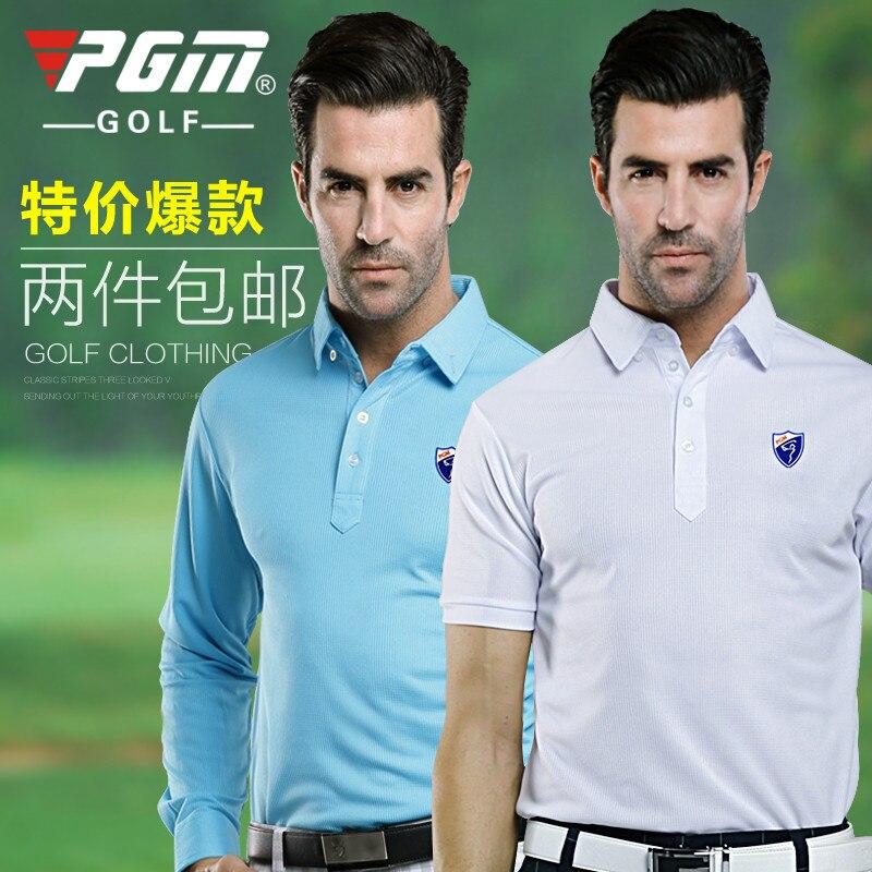 PGM Mens Autumn & Winter Long-Sleeve Mens Golf Apparel Workout Shirt GOLF Mens Pro Long Sleeve Base Layer Fitted DriFit Shirt