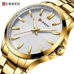 CURREN 2019 New Men Gold Watch Luxury Brand Analog Sport Watches Fashion Business Quartz Clock Male Waterproof Relogio Masculino