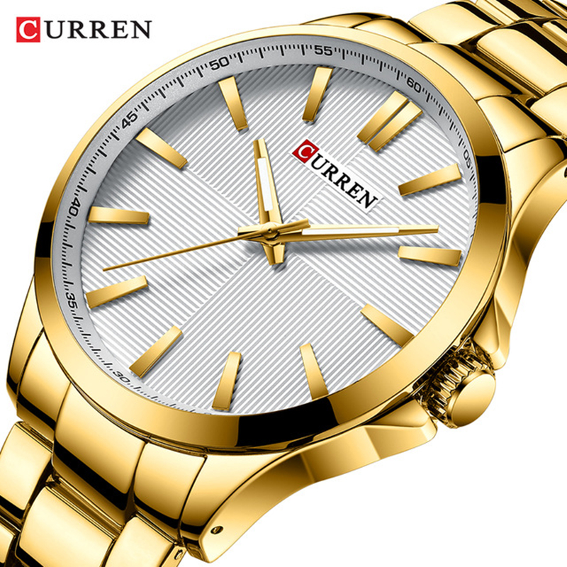 CURREN 2019 New Men Gold Watch Luxury Brand Analog Sport Watches Fashion Business Quartz Clock Male Waterproof Relogio Masculino