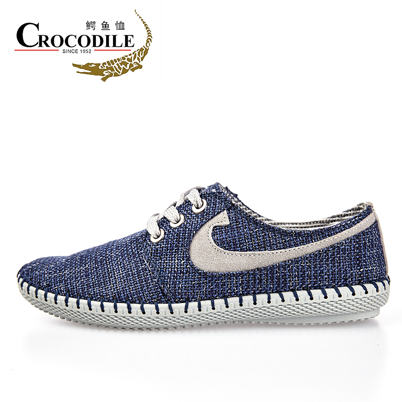 Crocodile Men Textile Sneakers Male Athletic Shoes Light Canvas Jogging Walking Vitality Shoes for Men Flat Sports Shoes Lofters