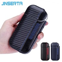 JINSERTA Luxury Leather Hard Case For IQOS Protective Sleeve Skin Case For IQOS Electronic Cigarette Accessories